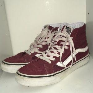 Vans maroon old skool high tops